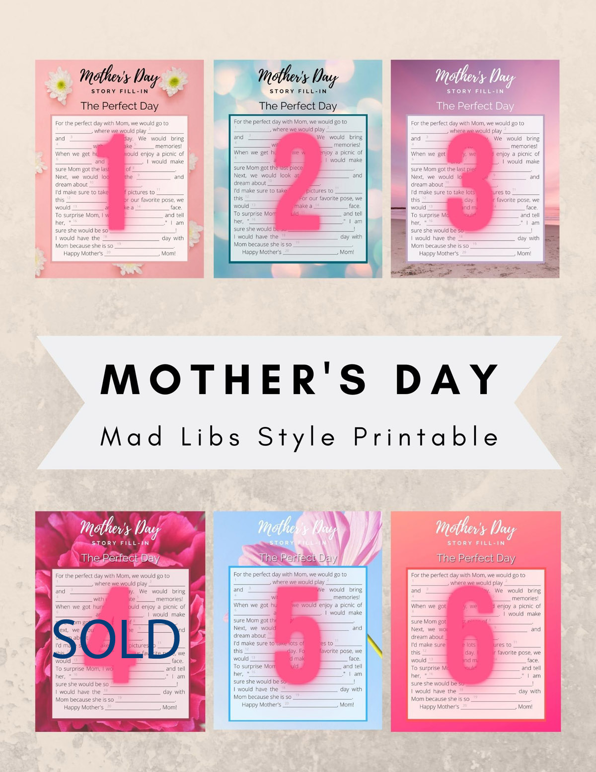Mother's Day Printables for Sale